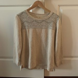 Jcrew Factory sweatshirt size S with lace detail